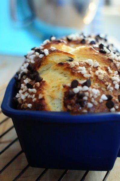 Brioche au levain aux pépites de chocolat et sucre perlé - Blog de cuisine créative, recettes / popotte de Manue