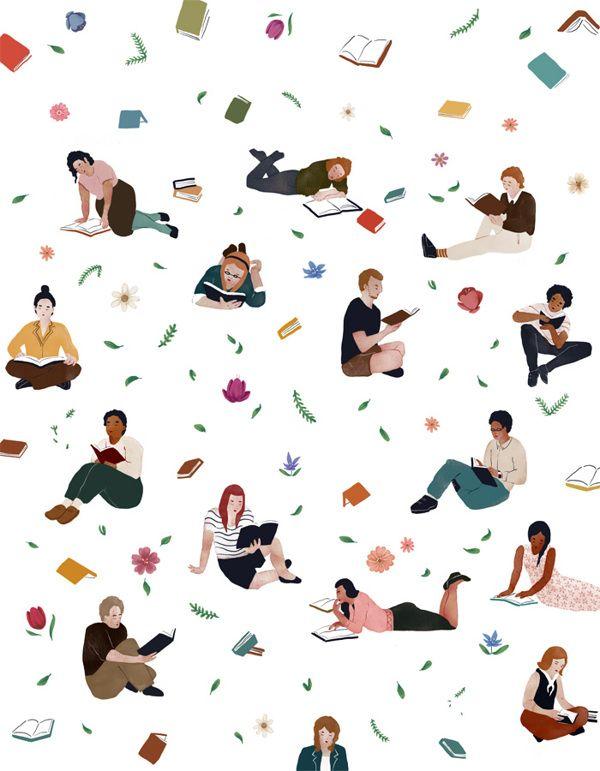 Spring Reading by Jeannie Phan, via Behance