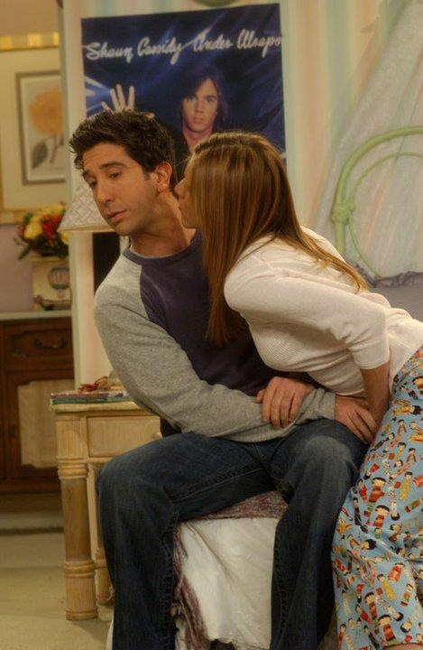 Rachel: I just don't want to be alone tonight. Ross: Ok, well, uh, I can maybe grab a sleeping bag, or...Oh, oh. No, Rach! I'm sorry, I just don't think this, this, this is a good idea. Rachel: Wait, we won't know that until we do it, will we? Ross: No, look, uh. You are upset about your father and you're feeling vulnerable and I just don't feel it would be right, I'd feel like I'd be, you know, taking advantage of you. Rachel: Taking advantage? I'm giving you the advantage, enjoy!