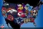 Futbol Amerykański NFL na mapie