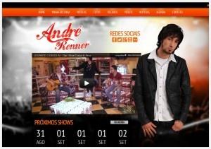 Criação de Site para Vocalista André Renner da Banda Corpo e Alma, um projeto da Agência Artweb Design Digital de Novo Hamburgo.