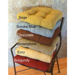 Elegance Chenille Non Slip Chair Pads Set Of 4