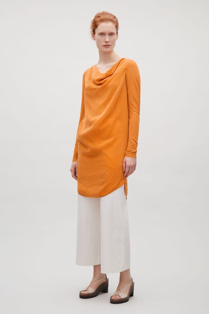 COS | Dress with draped neckline size uk 12