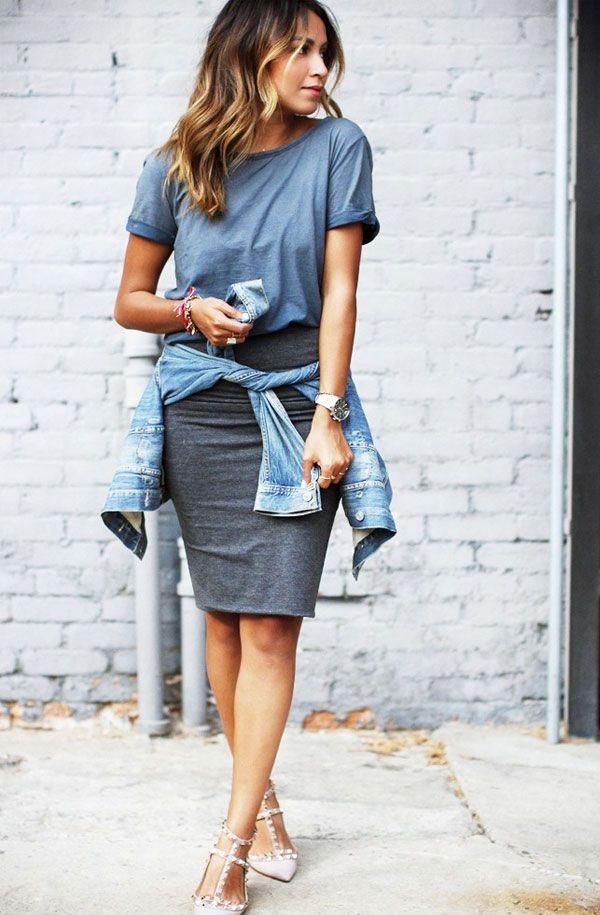 Combo de estilo: saia lápis + camiseta | STEAL THE LOOK
