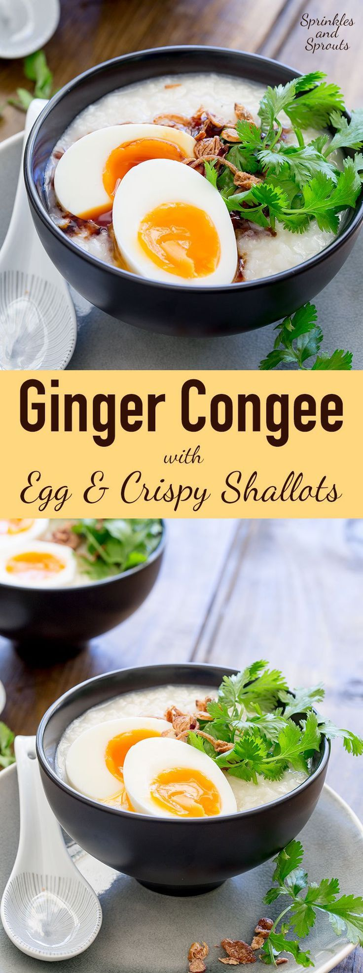 This is comfort food at it's best. Simple and delicious. Congee is a fabulous comforting rice dish!
