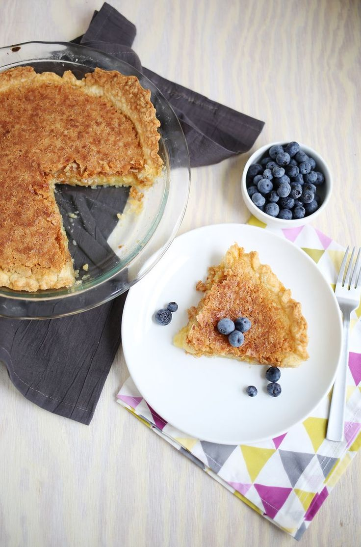 Toasted Coconut Chess Pie (minus the blueberries cause my hubby hates blueberries).