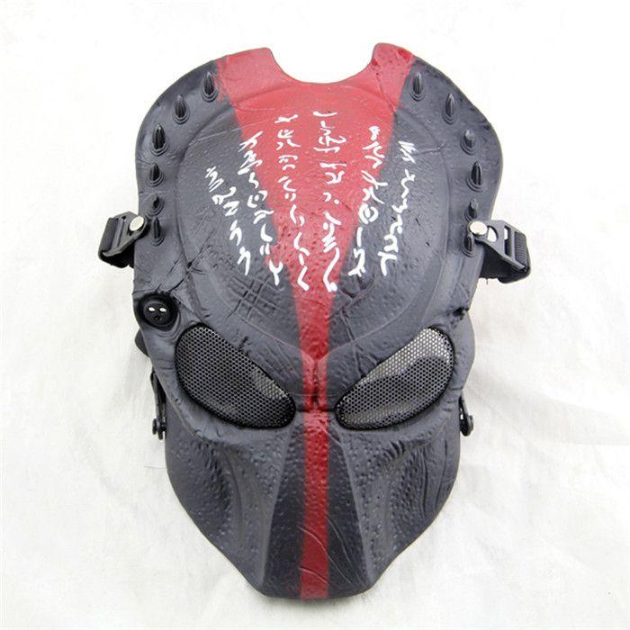 365 Alien Vs Predator Full Face Airsoft Mask(Black&Red)
