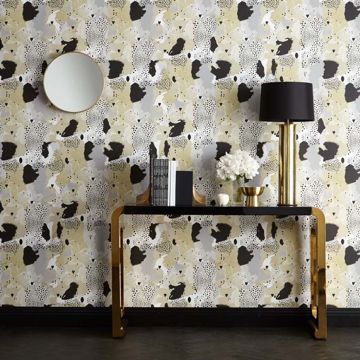 Love Leopard Wallpaper Caramel - 17 Patterns.  Animal Magnetism!!!  Animal…