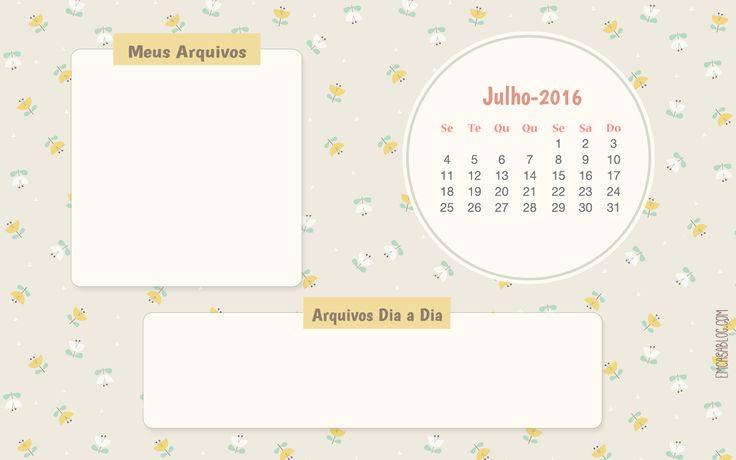 WALLPAPER CALENDÁRIO JULHO 2016