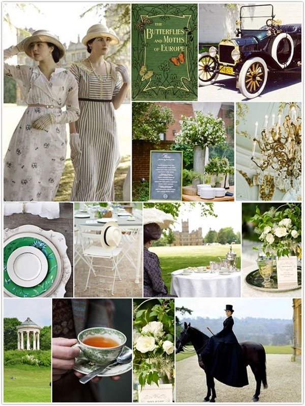 Downton Abbey-inspired.  LOVE Downton Abbey!!