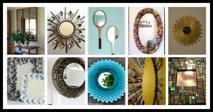 10 ways to make a mirror frame DIY