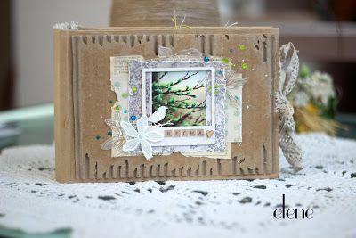*Скраповый мир*: Крафтовый альбом с птицами Фото всех разворотов