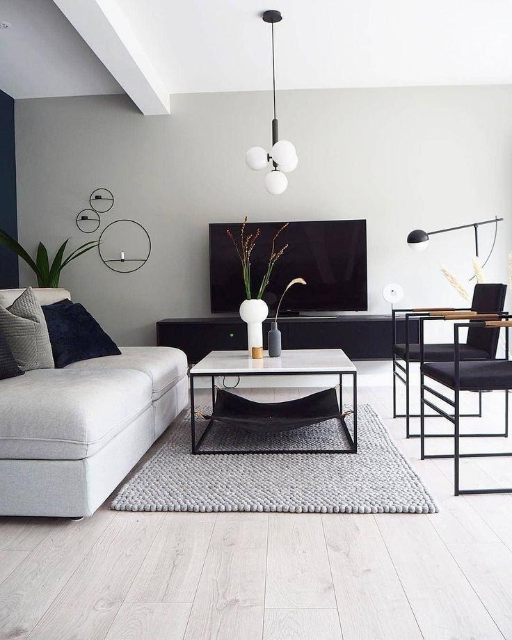 41 graue Wohnzimmerideen für wunderschöne und el…