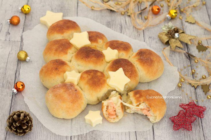 Albero+di+Natale+alle+patate+con+salmone+e+scamorza
