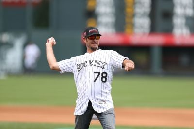 Truex Jr. Switches Gear, Throws out First Pitch at Rockies Game #NASCAR