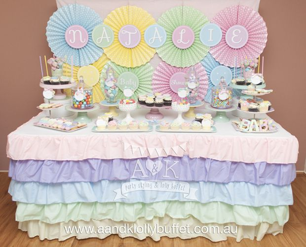 Cute as a Button Baby Shower Theme - via Little Cake Party