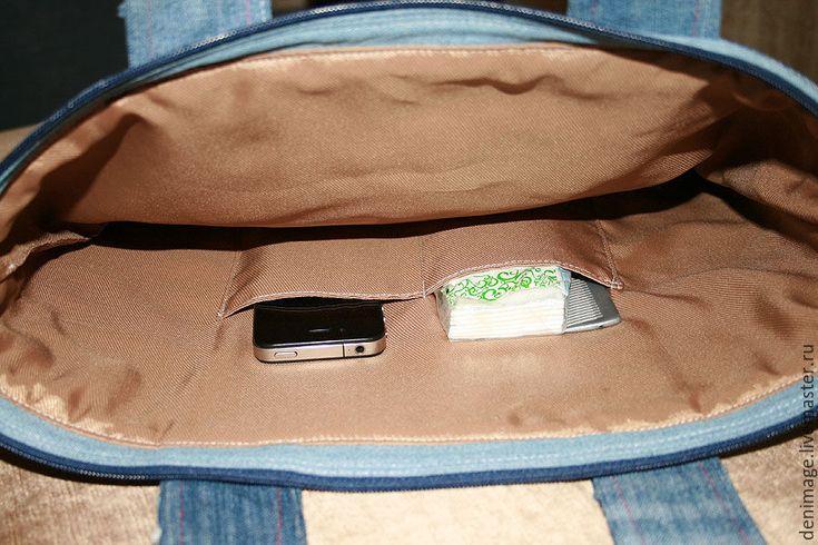 """Купить Джинсовая сумка """"Дом, который..."""" - джинсовая сумка, джинсовый стиль, деним, стиль хиппи"""