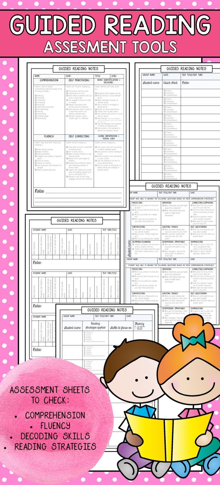 Guided Reading Assessment Pages