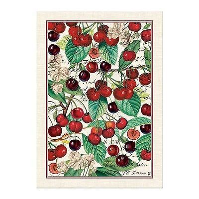 Michel Design Works Black Cherry Kitchen Towel