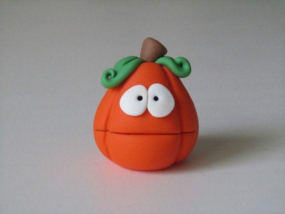 Pen toppers -Polymer Clay Halloween Pumpkin