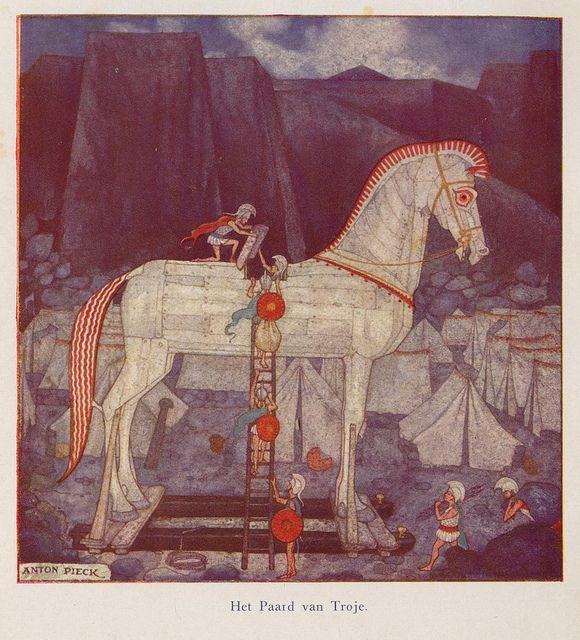Anton Pieck ill paard van Troje 1941