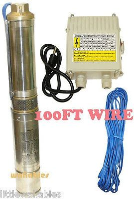 Pumps 42132: Stainless Steel 3Hp Deep Bore Submersible Well Pump 17Gpm 220V -> BUY IT NOW ONLY: $275.95 on eBay!