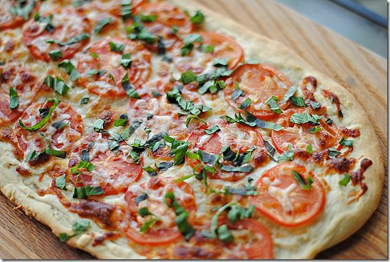 This Margherita Pizza is made with all fresh ingredients and is low in fat and calories
