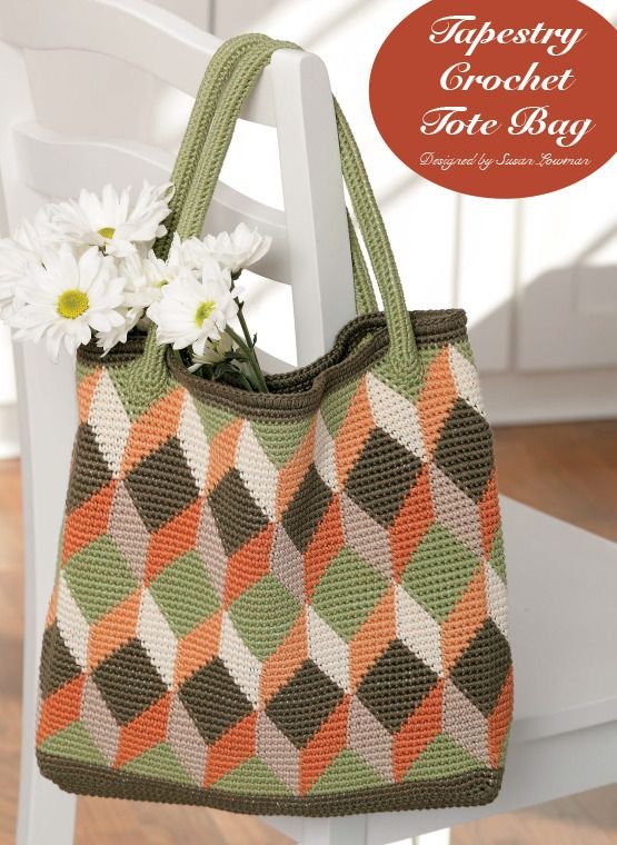 Tapestry Crochet tote bag.