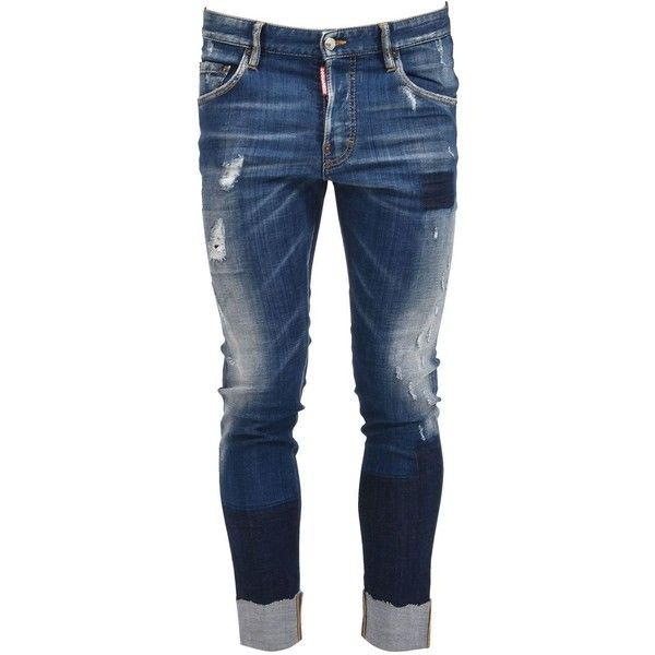 Whiskered Skater Jean ($460) ❤ liked on Polyvore featuring men's fashion, men's clothing, men's jeans, light blue, mens distressed skinny jeans, mens skinny jeans, mens ripped jeans, mens distressed jeans and mens cropped jeans