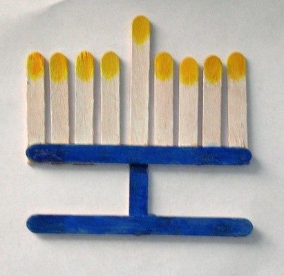 105 best green hanukah images on pinterest hanukkah for Menorah arts and crafts