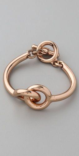 Vita Fede+ Mini Snodo Bracelet in rose gold  $330.00