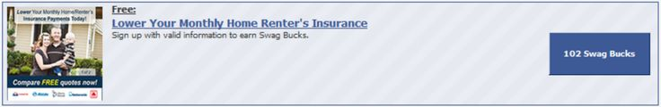 #ezOFFER Offer Name: Lower Your Monthly Home Renter's Insurance Offer Wall: Peanut Labs Offer Value: 102 #swagbucks Offer Instructions: Complete #ezaspirin in #Firefox. Select own, complete registration, at quote page click open all companies. Leave page open. Credit delay 15-20 minutes. Check account ledger for credit. #GoodLuck #ezswag