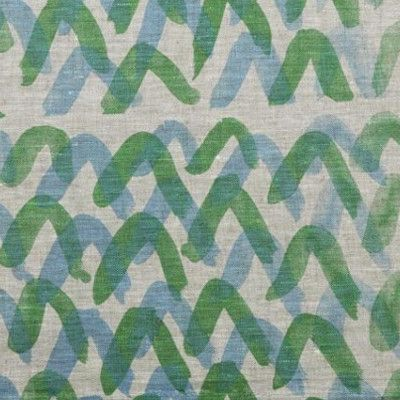 """The """"V"""" print Blue/Green Napkin - Set of 6 