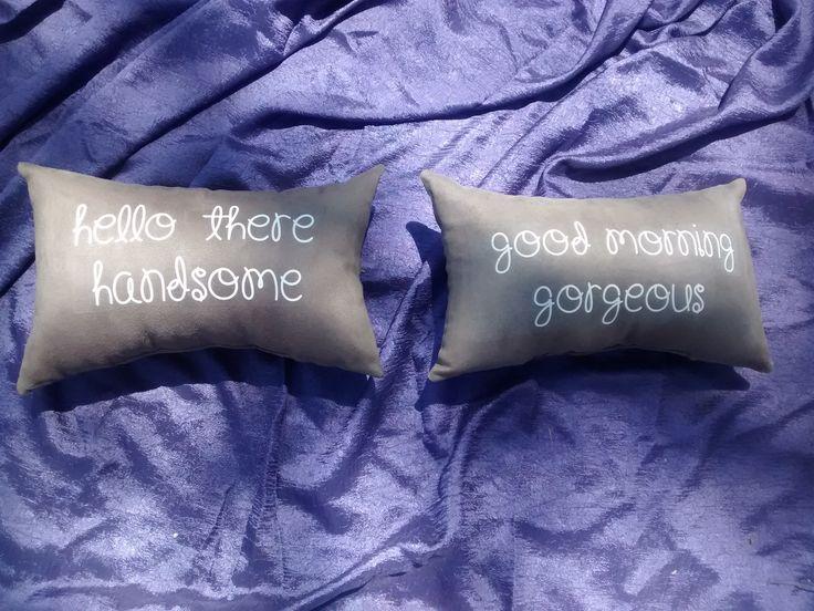 Juego de almohadas para novios o esposos!