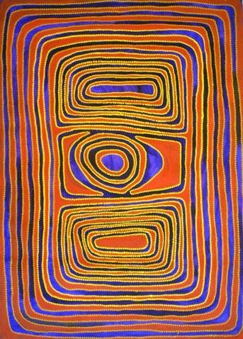 Jimmy Mawukura Mulgra Nerrimah  Kurtul Jila  synthetic polymer paint on canvas  100x140cm  $15,000 AUD
