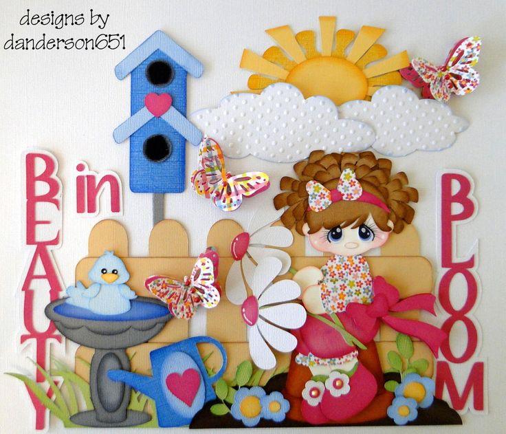 newly listed on ebay...danderson651... paper piecing, scrapbooking, borders, albums, kids, girls, flowers, birds