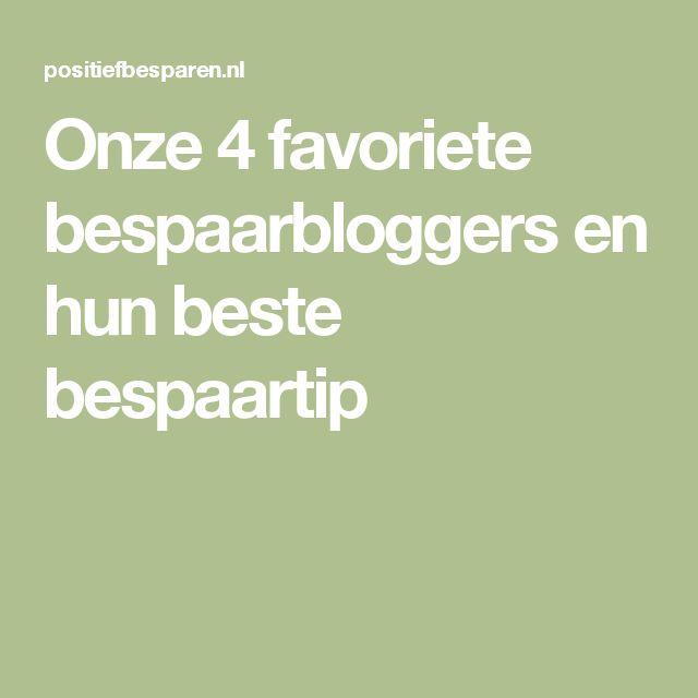 Onze 4 favoriete bespaarbloggers en hun beste bespaartip