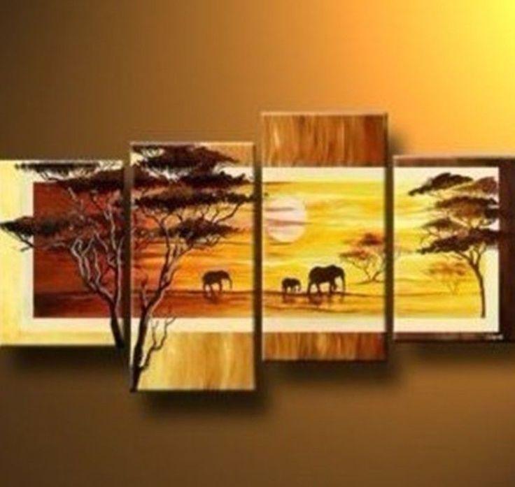 Modern-SUNSET-GIRAFFE-Abstract-Painting-CANVAS-Prints-Wall-Art ...
