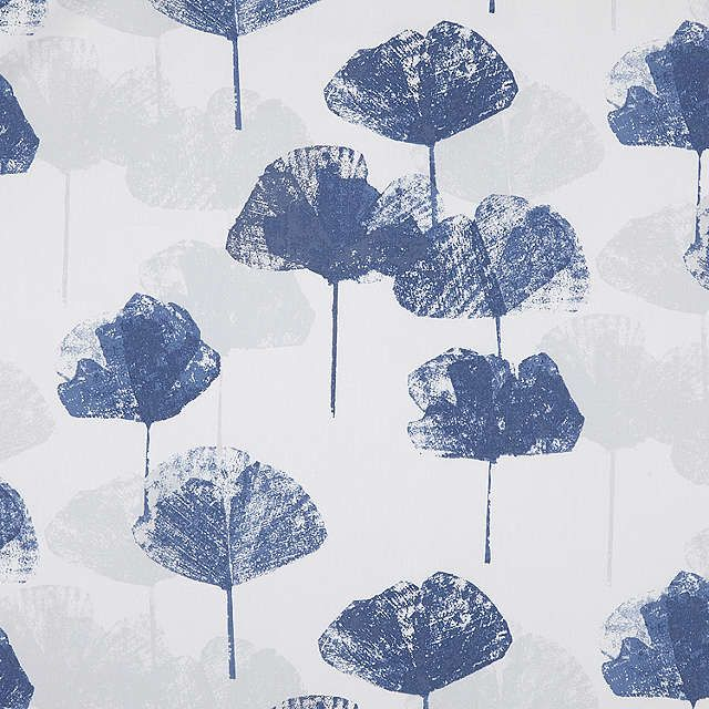 BuyJohn Lewis Waterlily Blackout Lined Pencil Pleat Curtains, Blue, W228 x Drop 182cm Online at johnlewis.com
