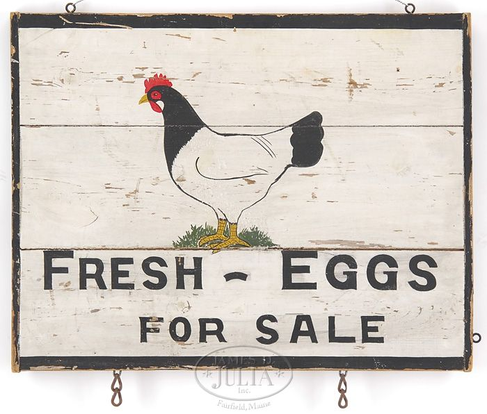 """FRESH-EGGS FOR SALE"" SIGN. -"