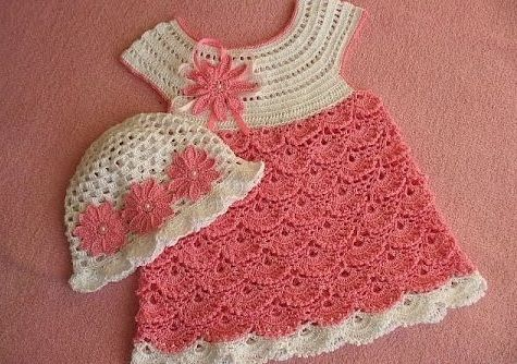 Tutorial and pattern pink crochet dress 1 - Crochet Baby