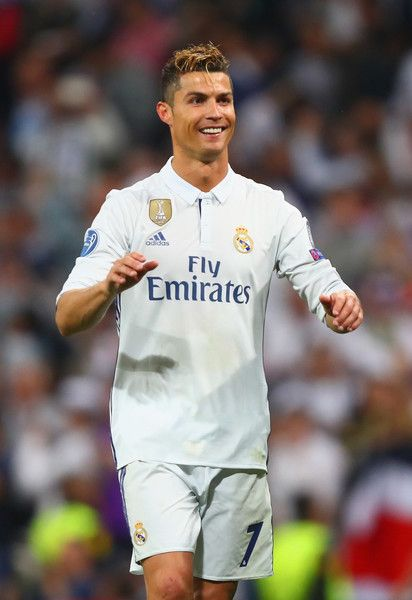 Cristiano Ronaldo of Real Madrid celebrates victory after the UEFA Champions League semi final first leg match between Real Madrid CF and Club Atletico de Madrid at Estadio Santiago Bernabeu on May 2, 2017 in Madrid, Spain.