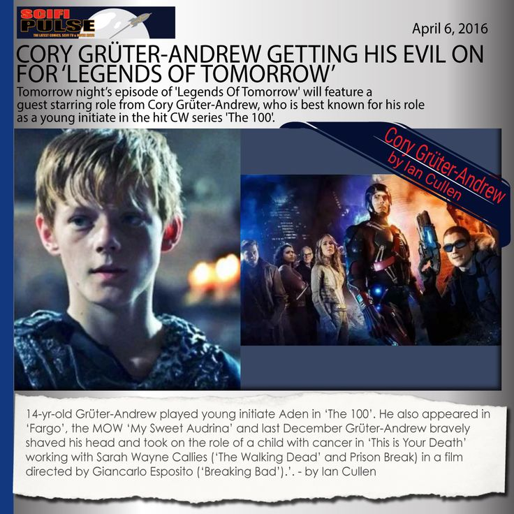 Cory Gruter Andrew in UK's @SciFiPulse! #LegendsOfTomorrowhttp://www.scifipulse.net/cory-gruter-andrew-getting-his-evil-on-for-legends-of-tomorrow/