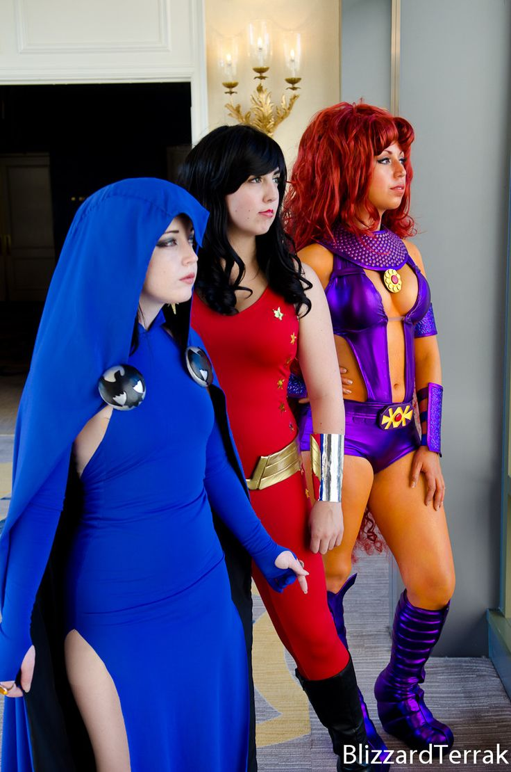 Female Teen Titans -- Raven, Starfire, Wonder Girl, The Way They Looked When They First Met In The Early 1980S Cosplay  Cosplay  Pinterest -5591