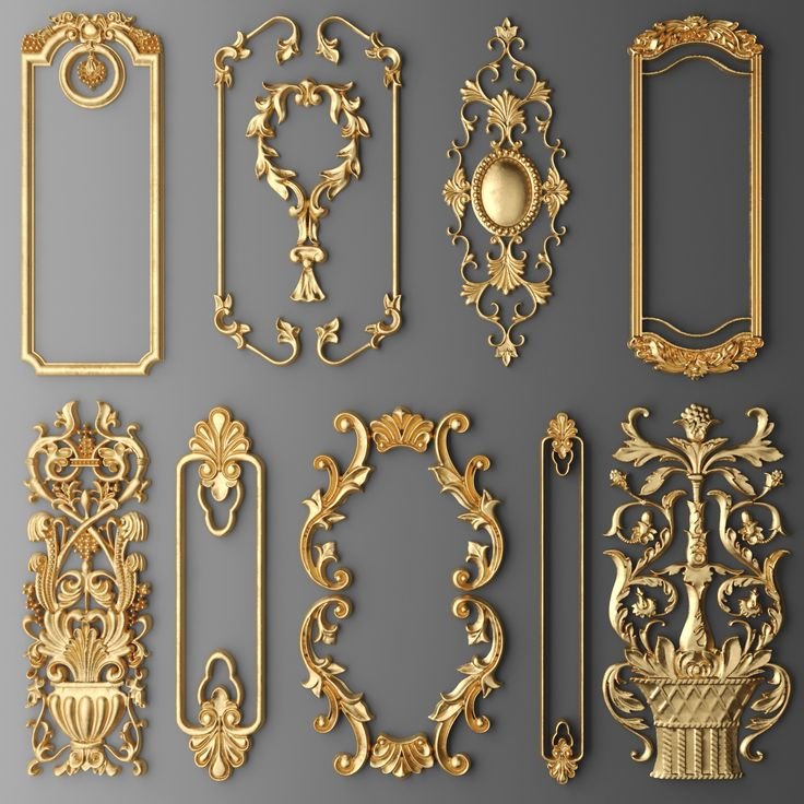 3d frame cartouches set model