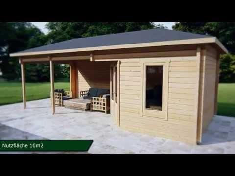 Gartenhaus Sophia 10m² / 44mm / 3x3 Holz pavillon