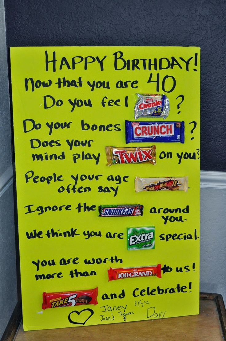 Happy Birthday Signs Made With Candy Bars Cakepins Com