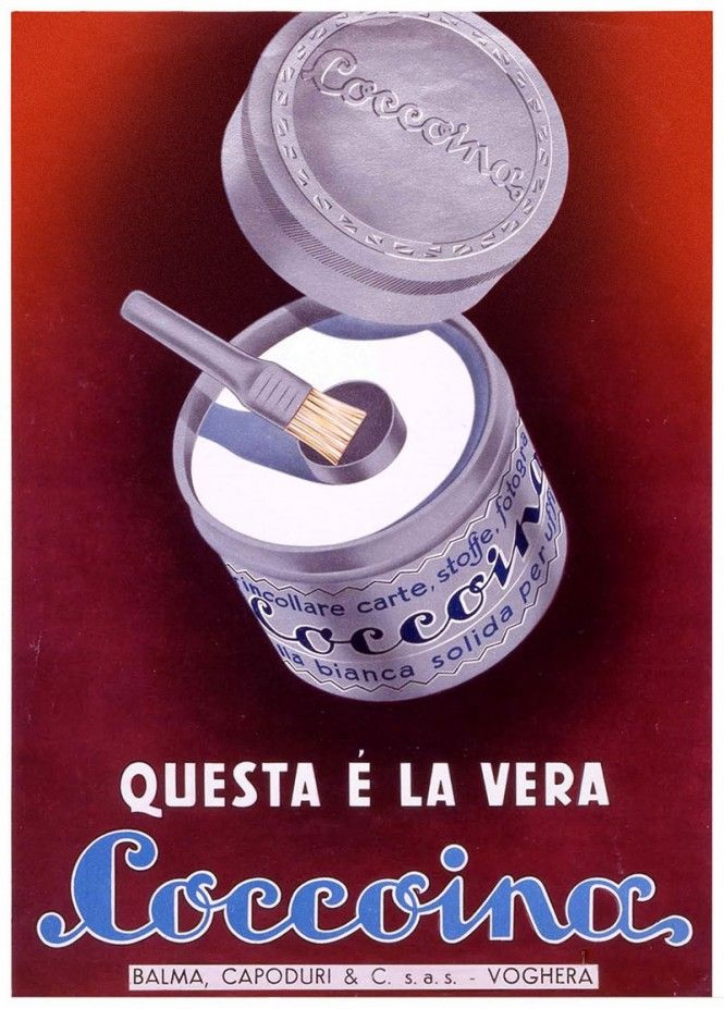 Coccoina glue. www.italianways.com/coccoina-italys-madeleine/