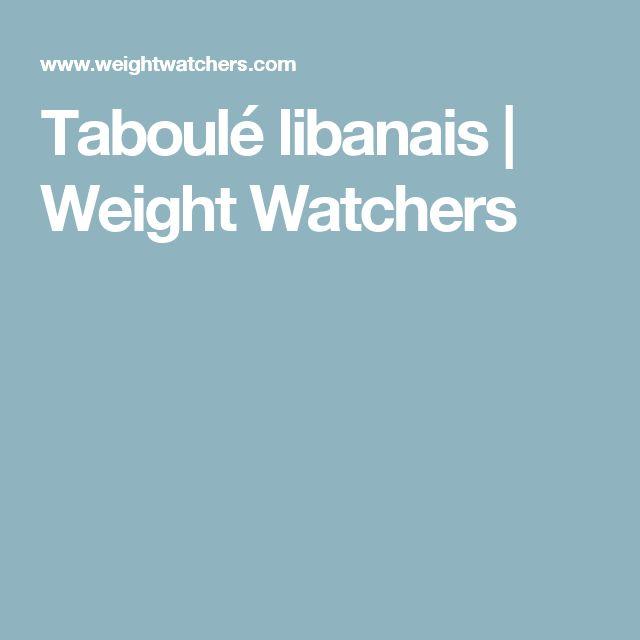 Taboulé libanais   Weight Watchers