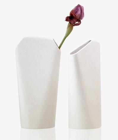 One Ceramic - Family of four vases designed by Sebastian Bergne for Driade. (2000)